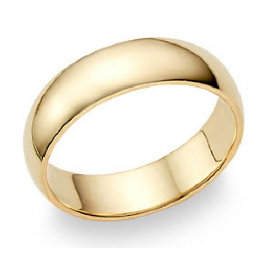 12.5 Jewel Tie Solid 14k Yellow Gold 6mm Mens Wedding Ring Band Size