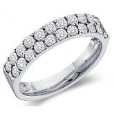 Diamond Wedding Ring 10k White Gold Bridal Anniversary Band (0.47 CT)
