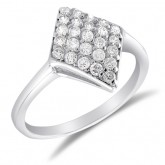 Fashion Ring Marquise Shape Set Band CZ Sterling Silver (1.00 Carat)