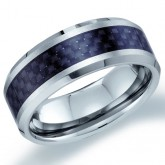 Mens Tungsten Wedding Band Engagement Ring Comfort Fit Black Stripe