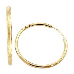 Gold Earrings 14k Gold Earrings Hoop Jewel Tie