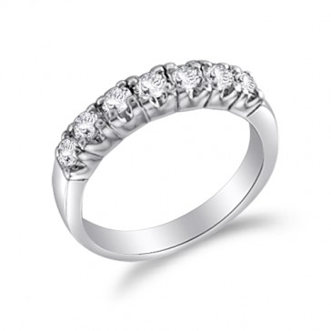 Wedding Band Bridal Set CZ Sterling Silver (0.55 Carat)