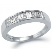 Diamond Wedding Ring 14k White Gold Anniversary Band (0.25 CT)