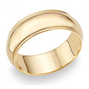 Men Gold Wedding Bands Classic Band Rings Tungsten